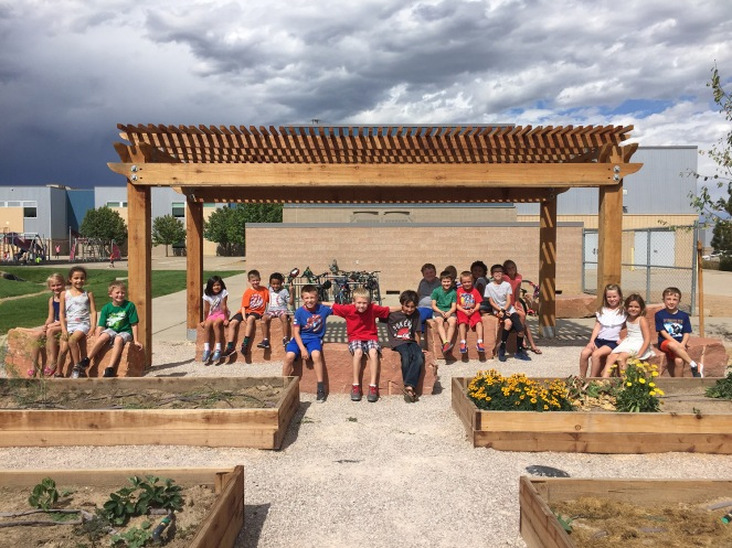 Coyote Ridge Elementary Celebrates New Learning Garden